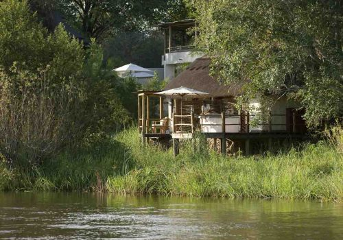 Africa; Zambia; Mosi-oa-Tunya National Park; Sanctuary Sussi & Chuma Lodge; Spa Exterior