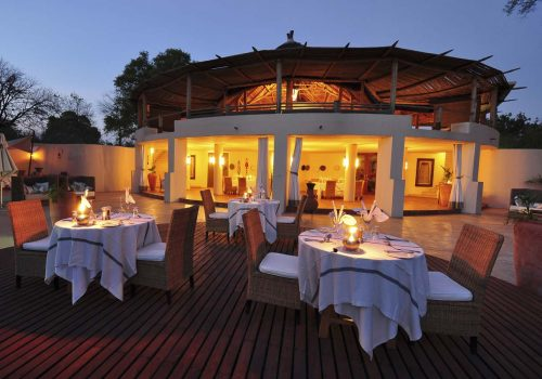 Africa; Zambia; Sanctuary Sussi and Chuma; Dining area